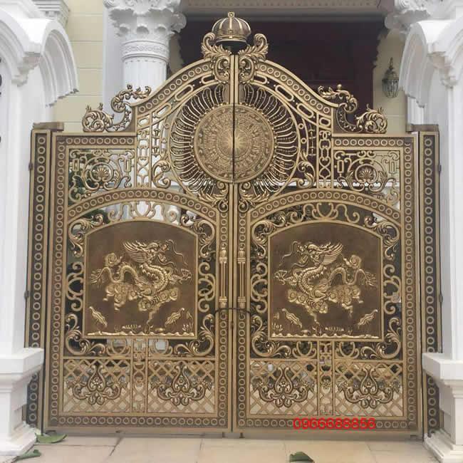 cổng nhôm đúc - C0038