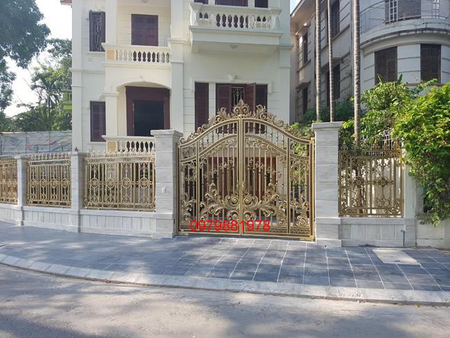cổng nhôm đúc - C0042