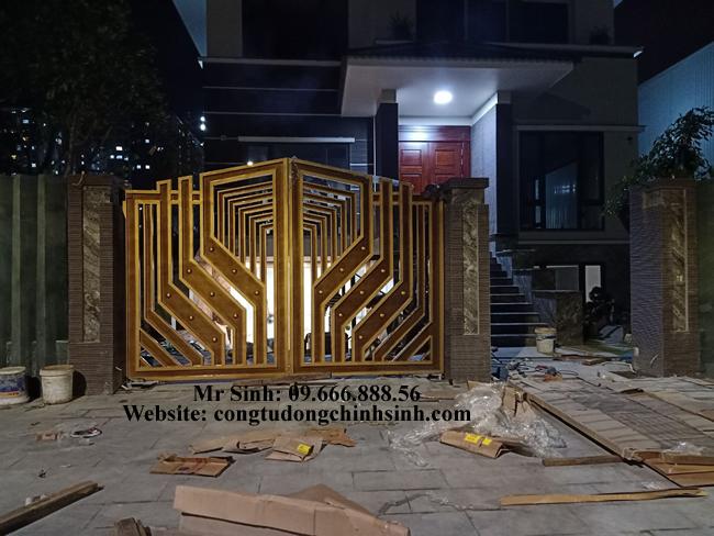 cổng nhôm đúc - C00114