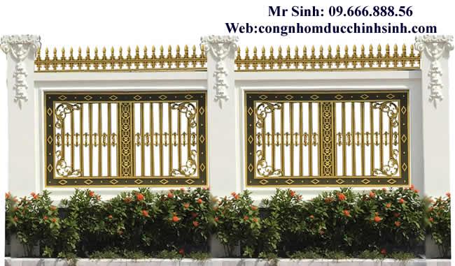 Hàng rào nhôm đúc - HR0037