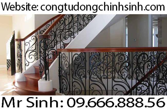 Cầu thang sắt nghệ thuật  - CT0036