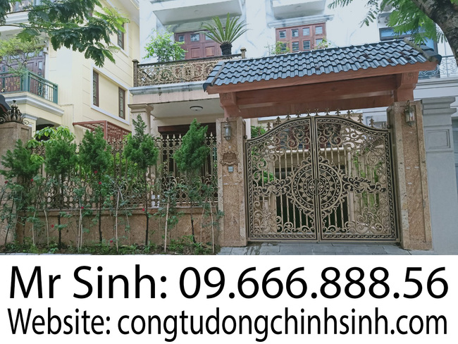 cổng nhôm đúc - C00171