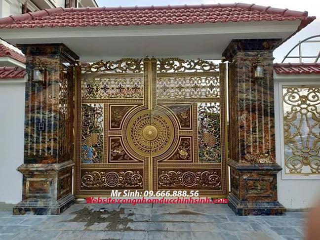 cổng nhôm đúc - C00144