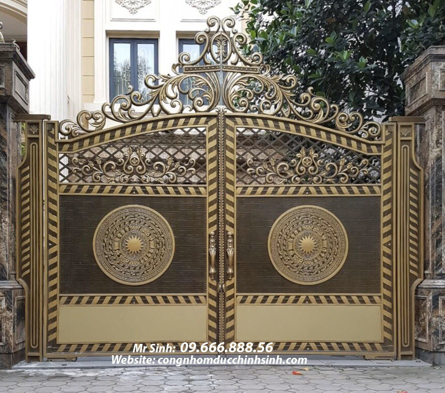 cổng nhôm đúc - C00142