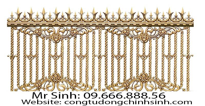 Hàng rào nhôm đúc - HR0080