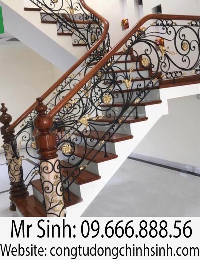 Cầu thang sắt nghệ thuật  - CT0034